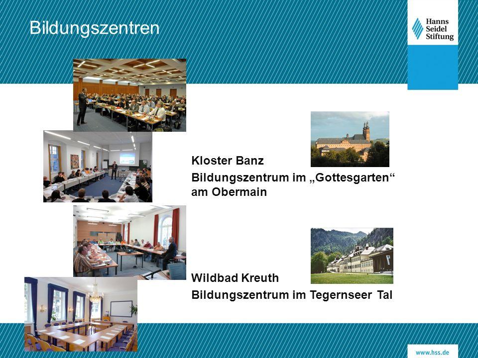 """Kloster Banz Bildungszentrum im """"Gottesgarten"""" am Obermain Wildbad Kreuth Bildungszentrum im Tegernseer Tal Bildungszentren"""