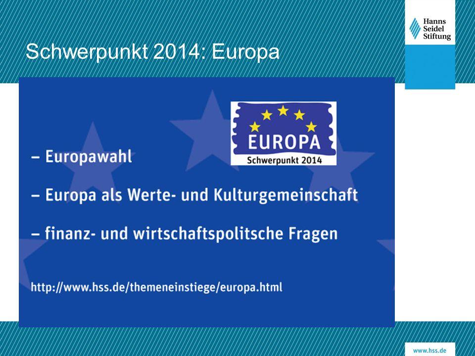 Schwerpunkt 2014: Europa www.hss.de/xxx