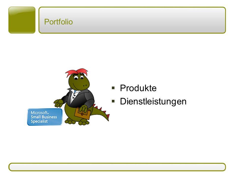 Portfolio  Produkte  Dienstleistungen