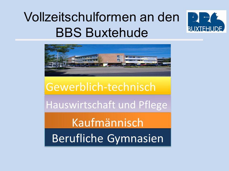 Vollzeitschulformen an den BBS Buxtehude Berufliche Gymnasien Gewerblich-technisch Hauswirtschaft und Pflege Kaufmännisch
