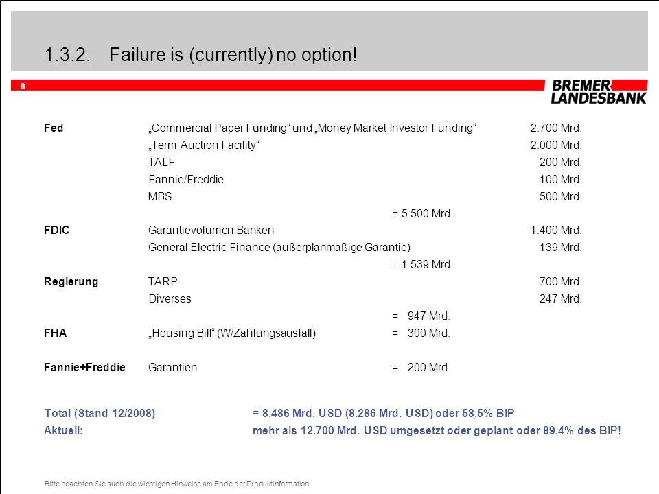 """8 Bitte beachten Sie auch die wichtigen Hinweise am Ende der Produktinformation 1.3.2.Failure is (currently) no option! Fed""""Commercial Paper Funding"""""""