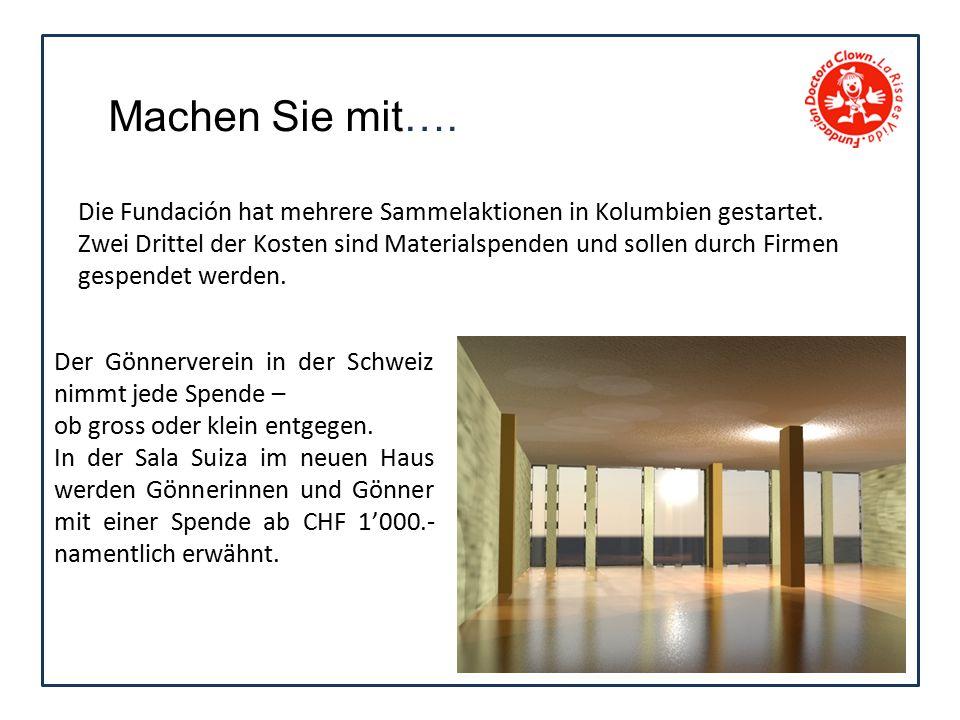 Der Gönnerverein in der Schweiz nimmt jede Spende – ob gross oder klein entgegen.