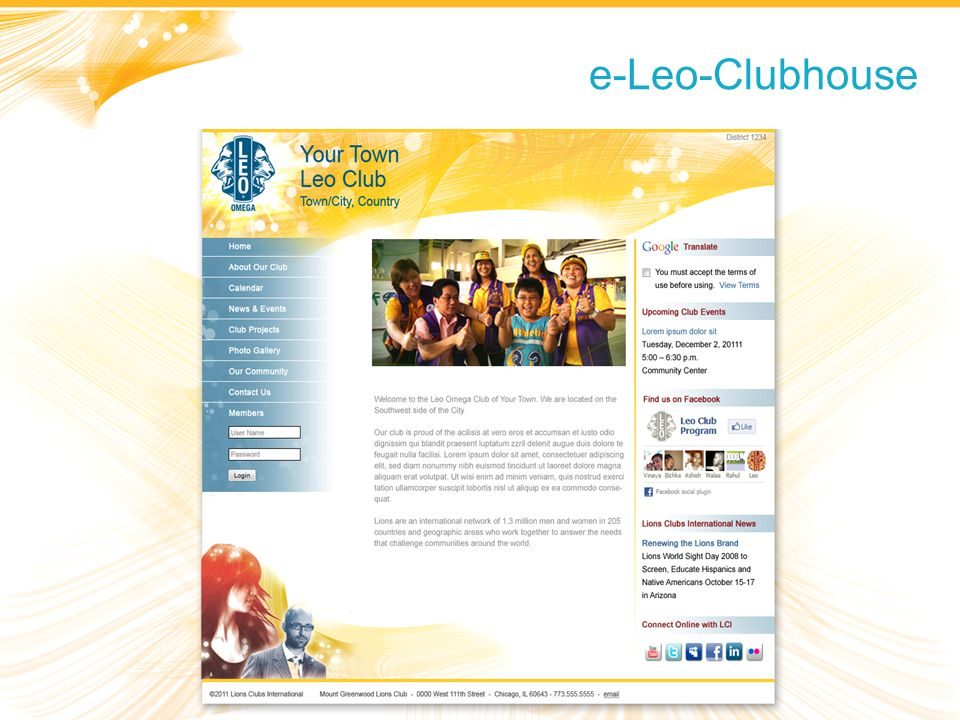 e-Leo-Clubhouse Department Focus and Operations