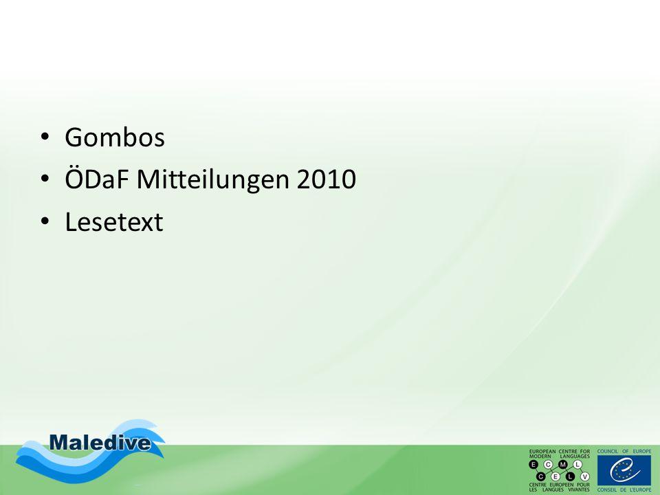 Gombos ÖDaF Mitteilungen 2010 Lesetext