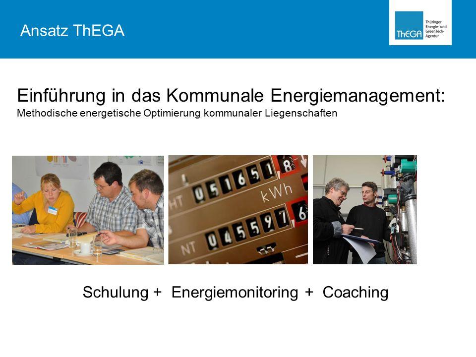 Einführung in das Kommunale Energiemanagement: Methodische energetische Optimierung kommunaler Liegenschaften Schulung + Energiemonitoring + Coaching Ansatz ThEGA