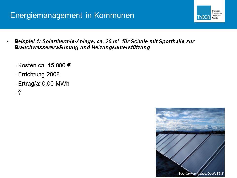 Beispiel 1: Solarthermie-Anlage, ca.