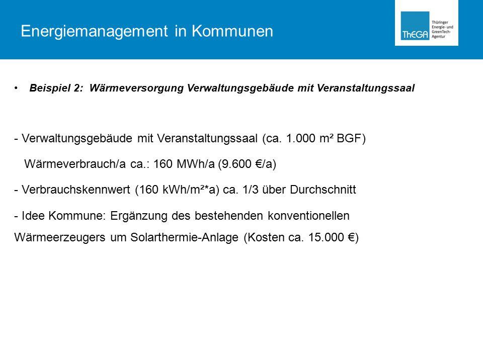 Bezugskosteneinsparung Überprüfung der Zählerstruktur:  Ausbau überdimensionierter und überflüssiger Strom- und Wasserzähler  Einsparung/ Wasserzähler: z.B.