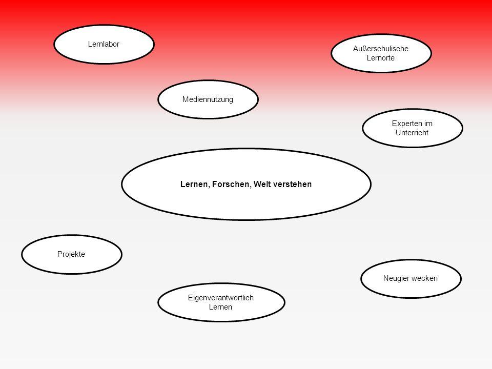 Lernlabor Eigenverantwortlich Lernen Projekte Mediennutzung Lernen, Forschen, Welt verstehen Neugier wecken Experten im Unterricht Außerschulische Lernorte
