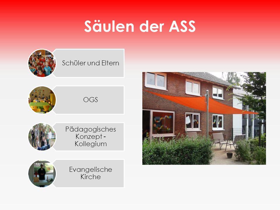 Säulen der ASS Schüler und Eltern OGS Pädagogisches Konzept - Kollegium Evangelische Kirche