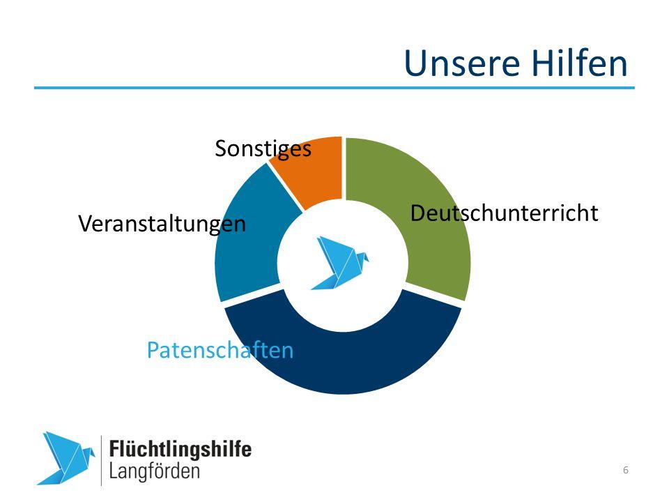 Unsere Hilfen 6 Deutschunterricht Veranstaltungen Patenschaften Sonstiges