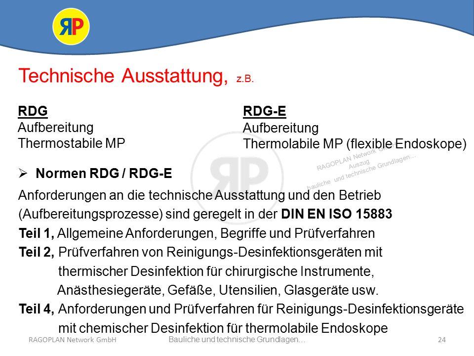RAGOPLAN Network GmbH Auszug bauliche und technische Grundlagen… 24Bauliche und technische Grundlagen…RAGOPLAN Network GmbH Technische Ausstattung, z.B.
