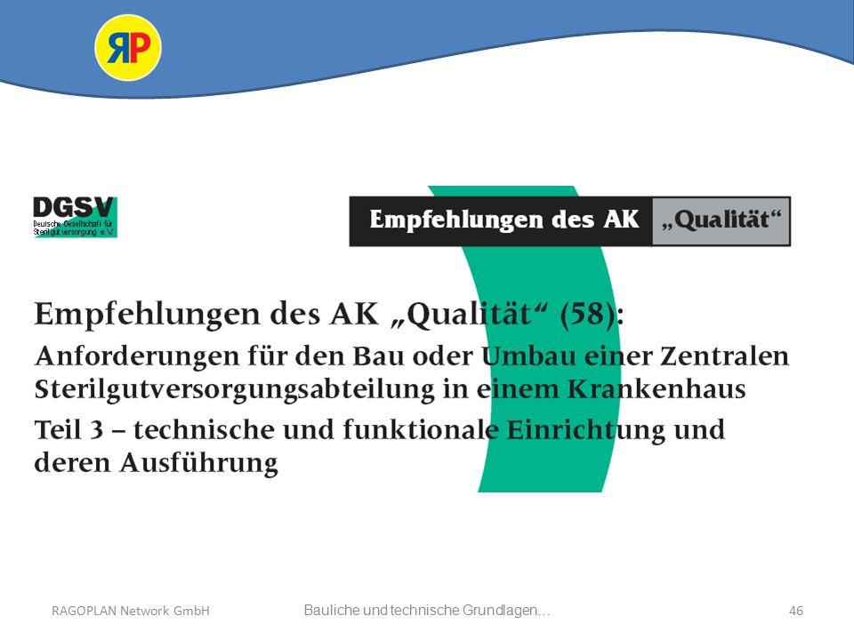 RAGOPLAN Network GmbH Auszug bauliche und technische Grundlagen… 46Bauliche und technische Grundlagen…RAGOPLAN Network GmbH