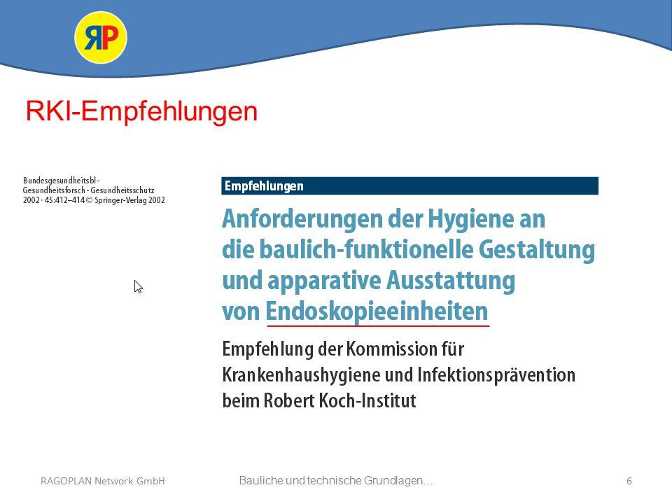 RAGOPLAN Network GmbH Auszug bauliche und technische Grundlagen… 6Bauliche und technische Grundlagen…RAGOPLAN Network GmbH RKI-Empfehlungen
