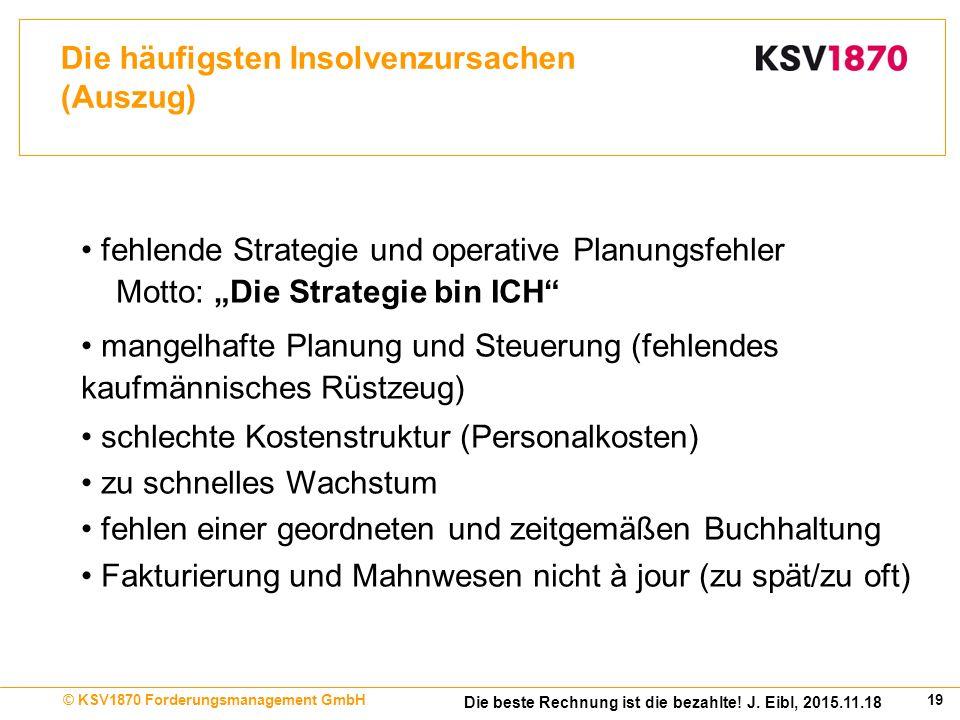 19© KSV1870 Forderungsmanagement GmbH Die beste Rechnung ist die bezahlte.