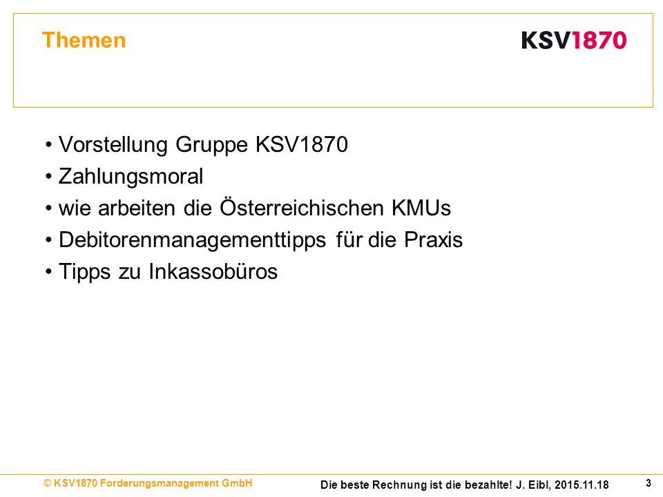 14Inkasso Trendumfrage 2015, September 2015© KSV1870 Forderungsmanagement GmbH Zahlungsfristen 2015 – Firmenkunden nach Branchen getrennt 24