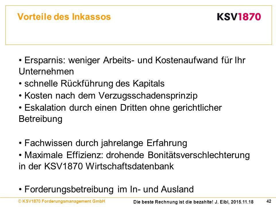 42© KSV1870 Forderungsmanagement GmbH Die beste Rechnung ist die bezahlte.