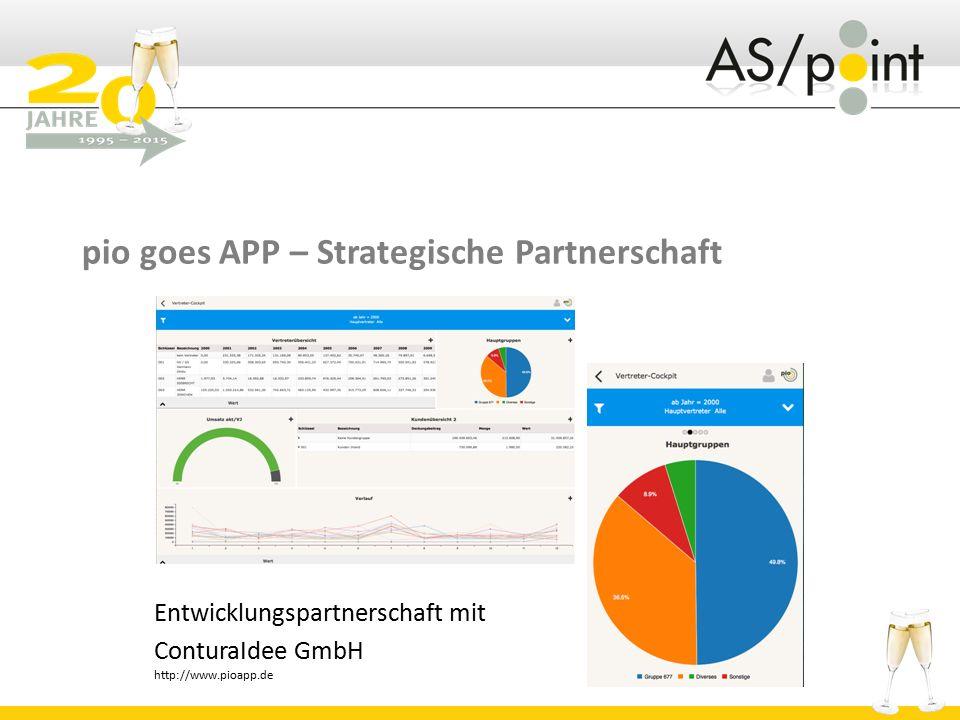 pio goes APP – Strategische Partnerschaft Entwicklungspartnerschaft mit ConturaIdee GmbH http://www.pioapp.de