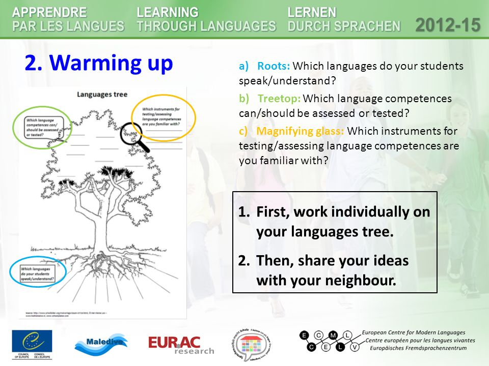4b) Guiding questions for planning language assessements Which linguistic skills do you want to assess or test?