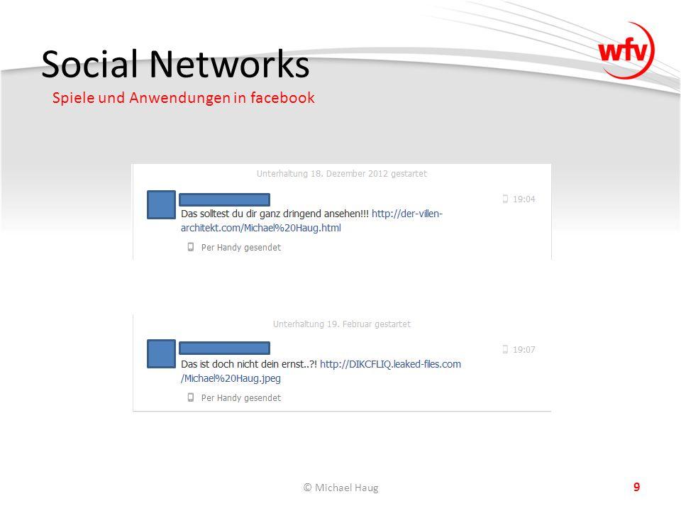 Social Networks Spiele und Anwendungen in facebook © Michael Haug 9