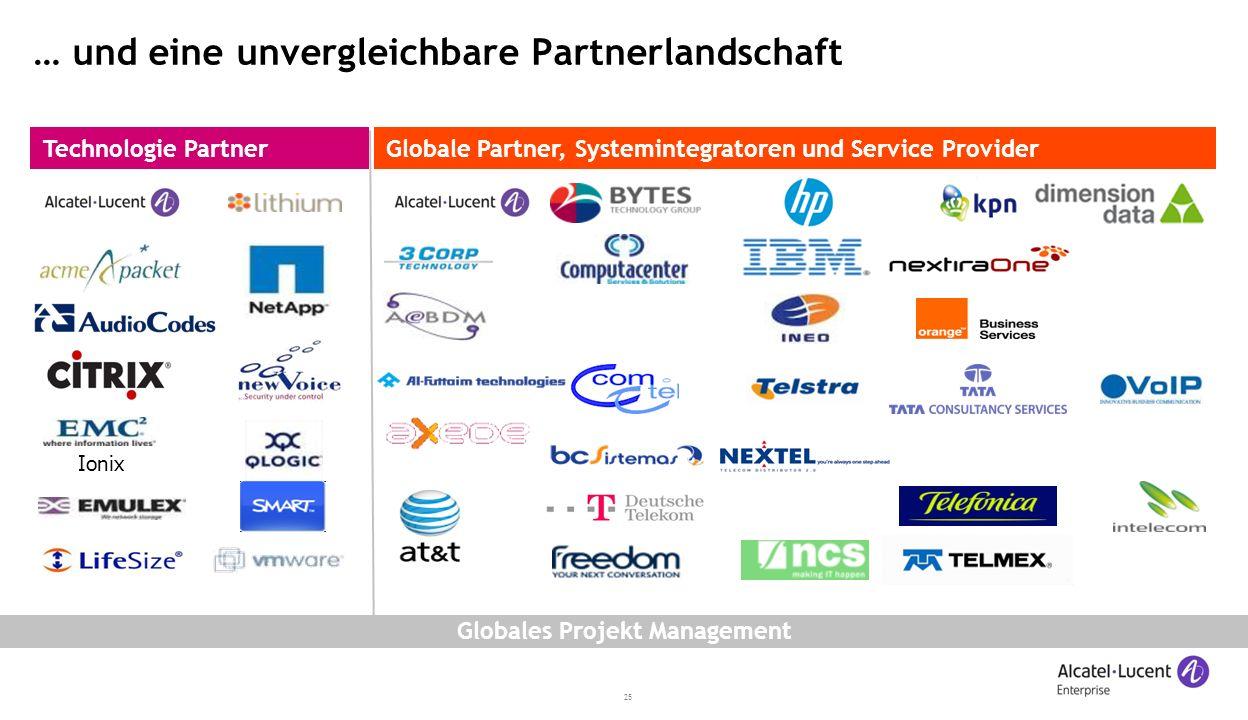 25 … und eine unvergleichbare Partnerlandschaft Globale Partner, Systemintegratoren und Service ProviderTechnologie Partner Ionix Globales Projekt Management