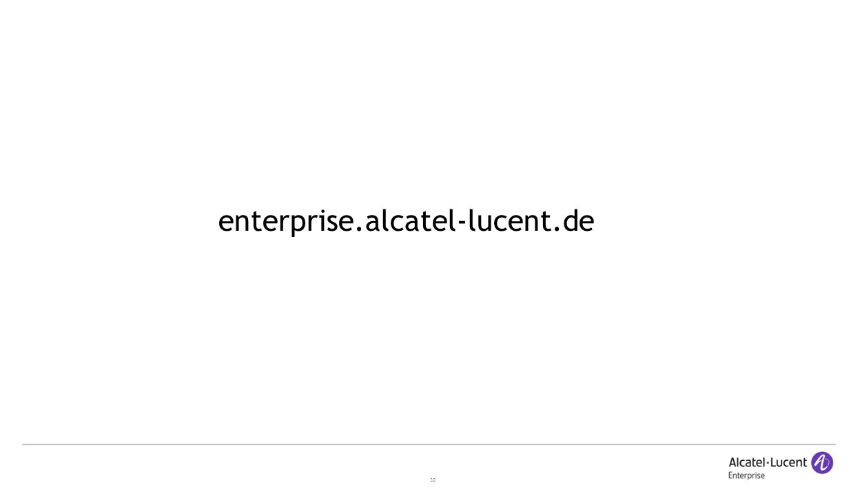 30 enterprise.alcatel-lucent.de