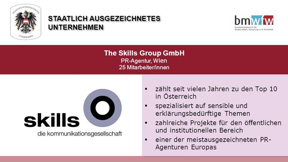  zählt seit vielen Jahren zu den Top 10 in Österreich  spezialisiert auf sensible und erklärungsbedürftige Themen  zahlreiche Projekte für den öffe