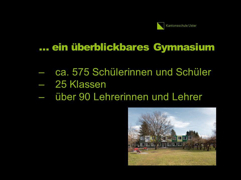 Kantonsschule Uster … ein überblickbares Gymnasium –ca. 575 Schülerinnen und Schüler –25 Klassen –über 90 Lehrerinnen und Lehrer 16 1.