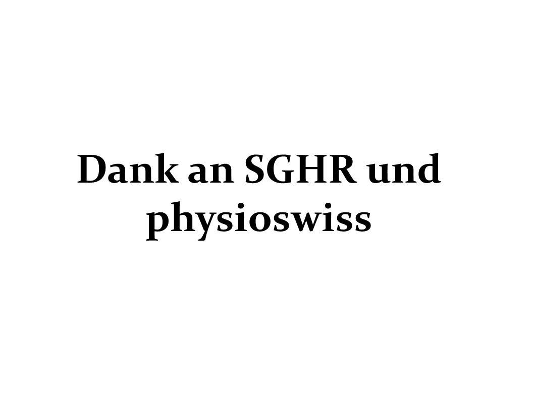 Dank an SGHR und physioswiss
