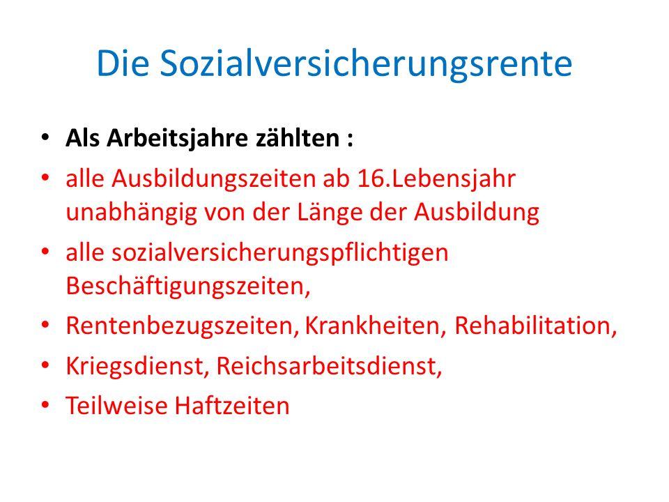 Die Rentenumwertung Ausnahmen vom Neuberechnungsverbot: wenn eine Sozialversicherungs- und Zusatzrente nach den am 31.