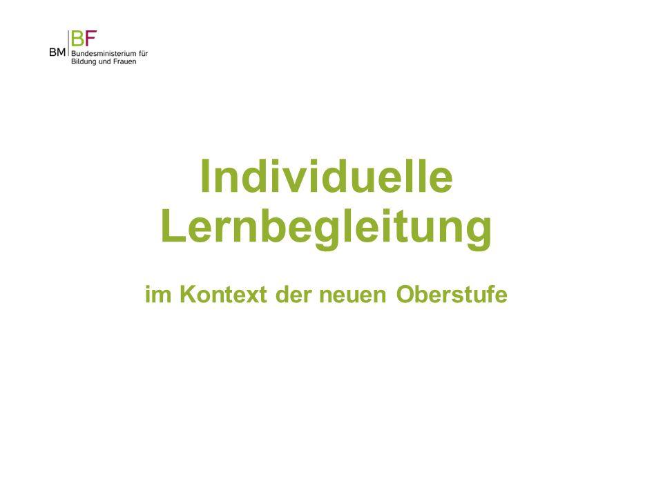 Individuelle Lernbegleitung im Kontext der neuen Oberstufe 1