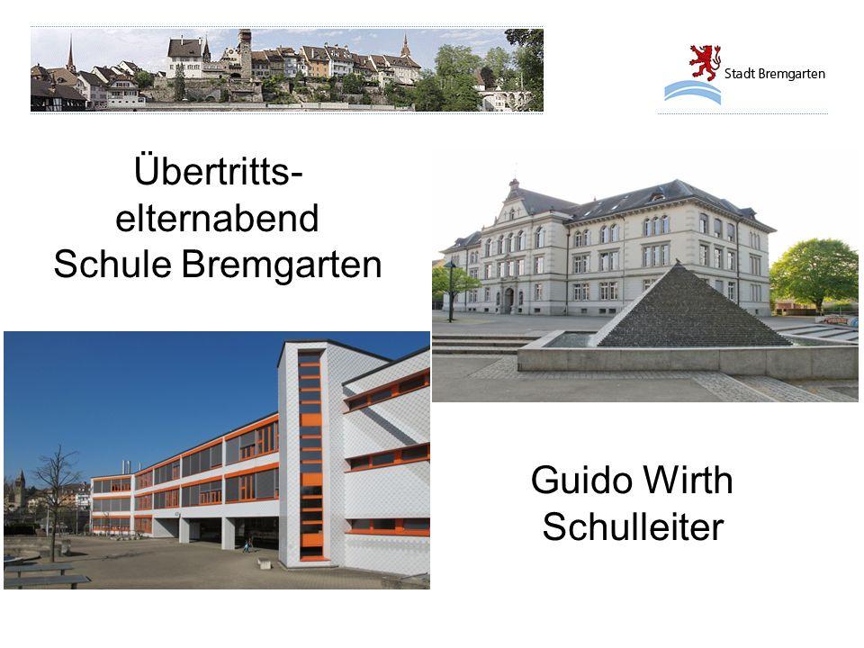 Übertritts- elternabend Schule Bremgarten Guido Wirth Schulleiter