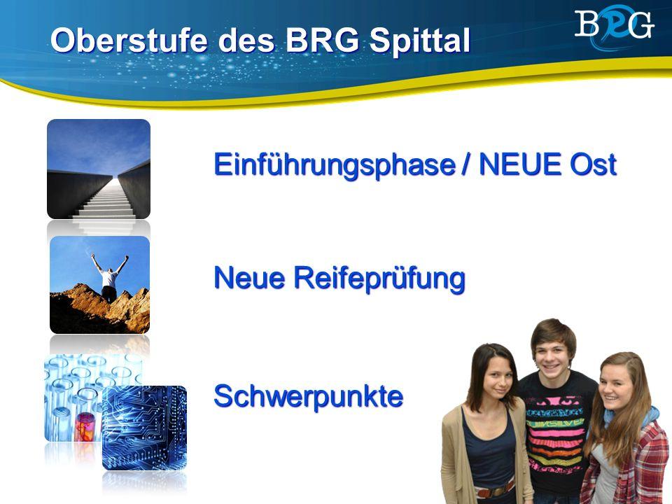 Oberstufe des BRG Spittal Einführungsphase / NEUE Ost Neue Reifeprüfung Schwerpunkte