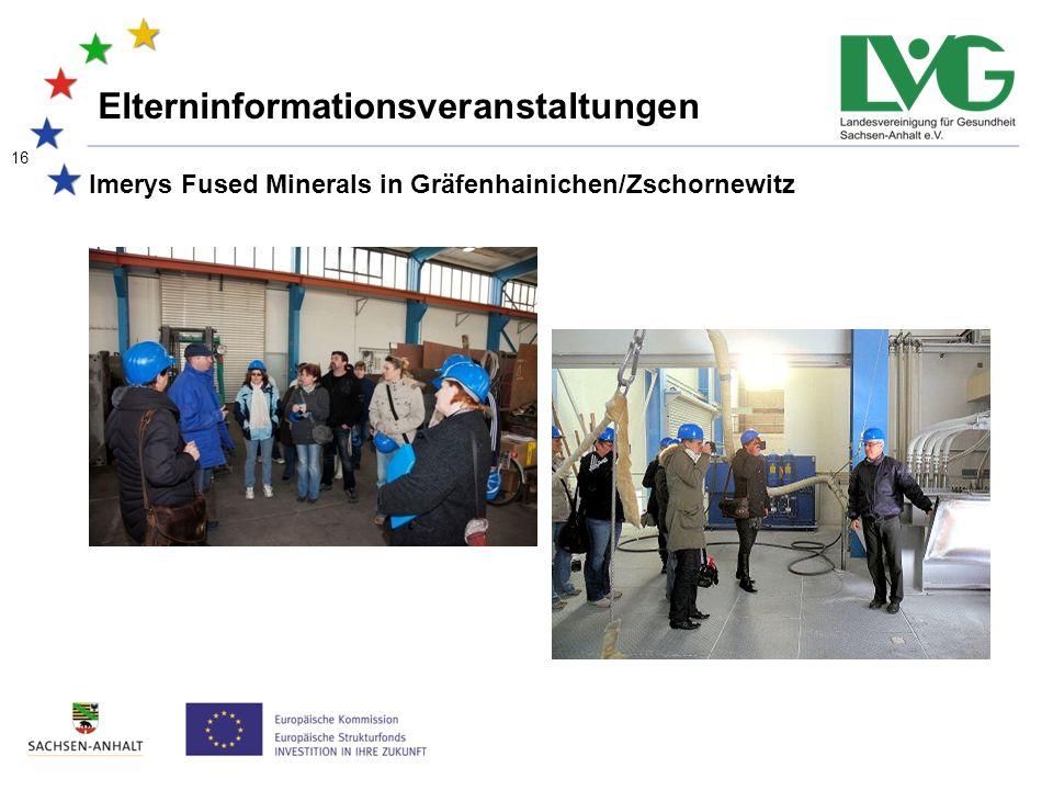 16 Imerys Fused Minerals in Gräfenhainichen/Zschornewitz Elterninformationsveranstaltungen