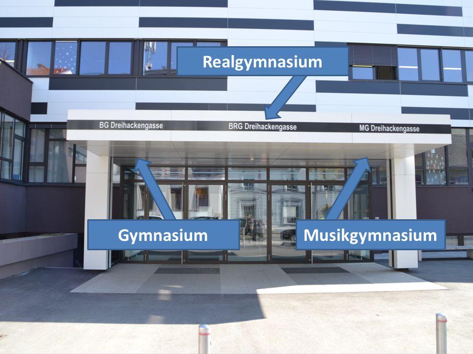 Schulformen des BG/BRG/MG Dreihackengasse Musikgymnasium.