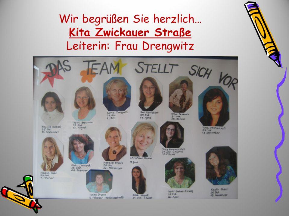 Wir begrüßen Sie herzlich… Kita Zwickauer Straße Leiterin: Frau Drengwitz