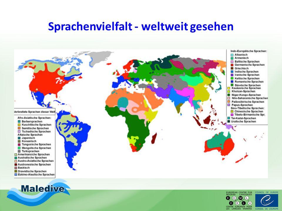 Sprachenvielfalt - weltweit gesehen