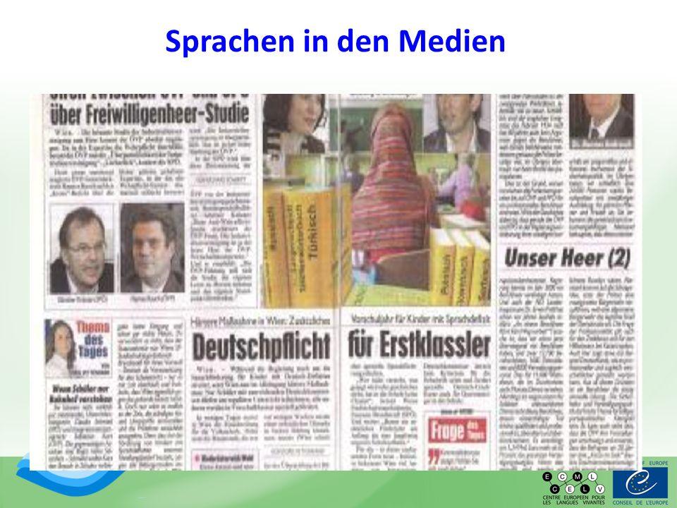 Sprachen in den Medien
