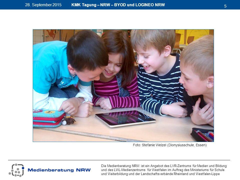 5 28. September 2015 Die Medienberatung NRW ist ein Angebot des LVR-Zentrums für Medien und Bildung und des LWL-Medienzentrums für Westfalen im Auftra