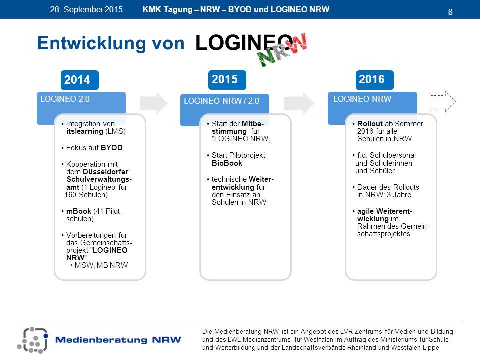 8 28. September 2015 Die Medienberatung NRW ist ein Angebot des LVR-Zentrums für Medien und Bildung und des LWL-Medienzentrums für Westfalen im Auftra