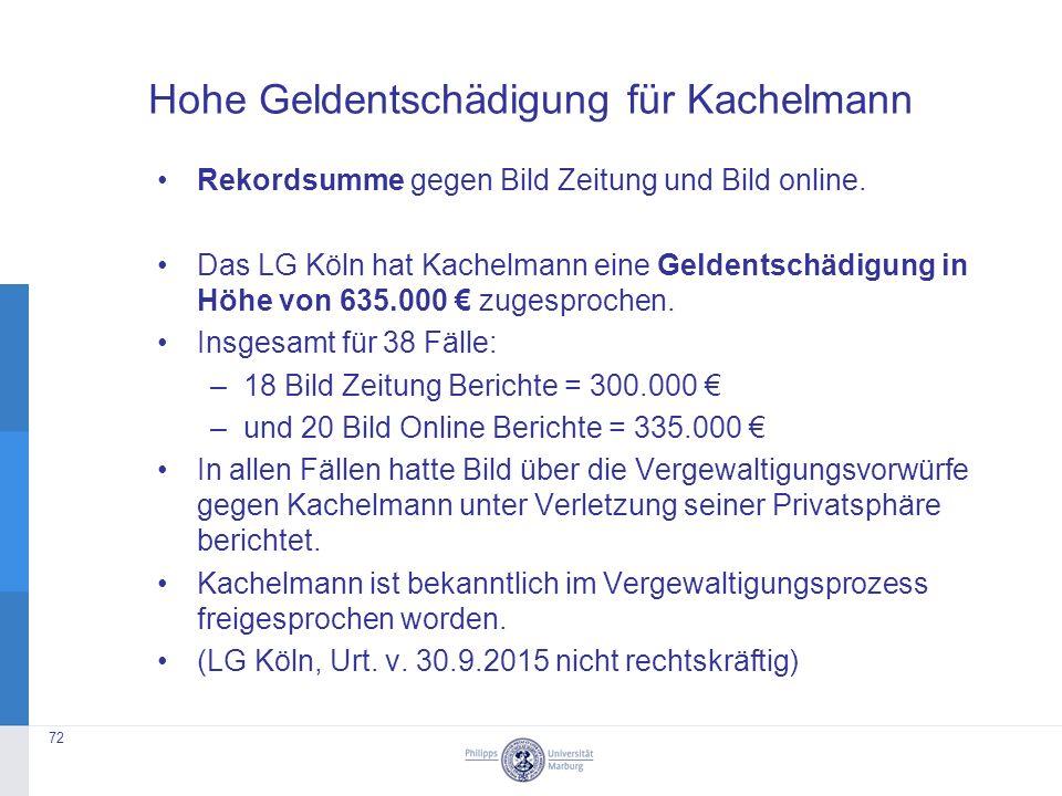 Hohe Geldentschädigung für Kachelmann Rekordsumme gegen Bild Zeitung und Bild online.