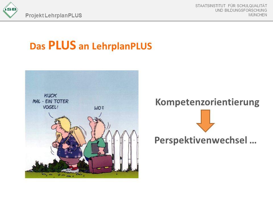 STAATSINSTITUT FÜR SCHULQUALITÄT UND BILDUNGSFORSCHUNG MÜNCHEN LehrplanPLUS online www.lehrplanplus.bayern.de