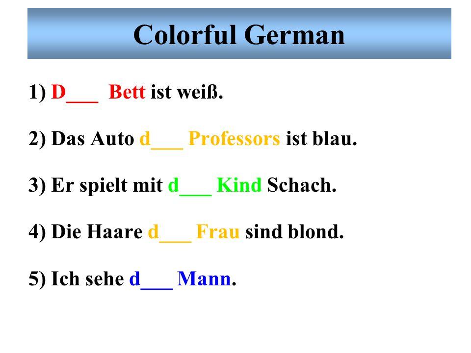 Colorful German D– Mann spielt Tennis. D– Frau spielt Tennis. D– Kind spielt Tennis. D– Kinder spielen Tennis. Der Mann spielt Tennis. Die Frau spielt