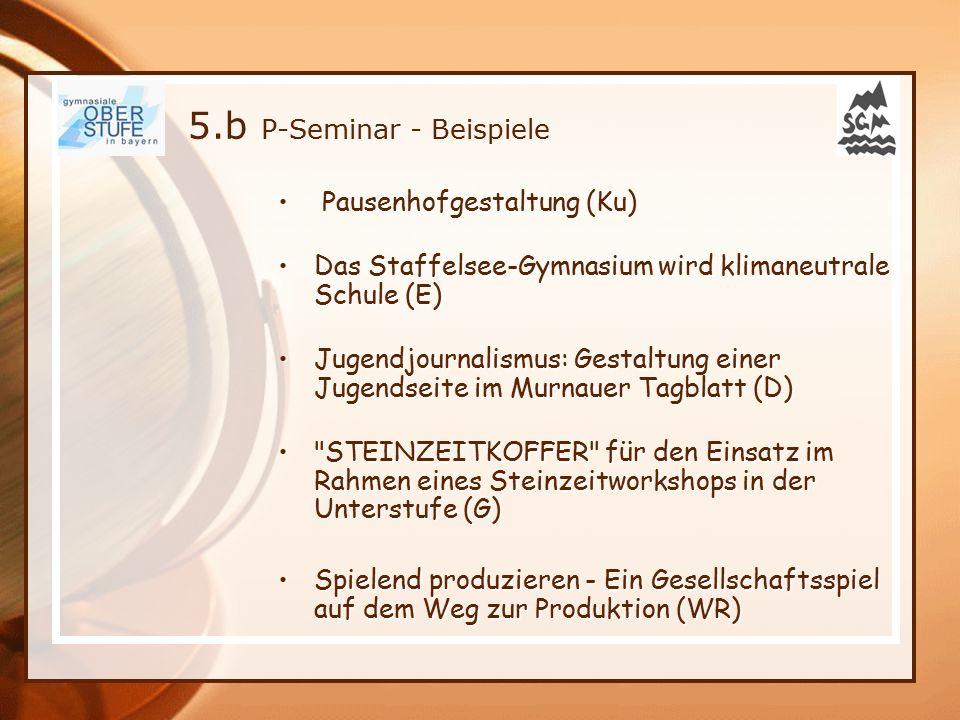 Pausenhofgestaltung (Ku) Pausenhofgestaltung (Ku) Das Staffelsee-Gymnasium wird klimaneutrale Schule (E)Das Staffelsee-Gymnasium wird klimaneutrale Sc