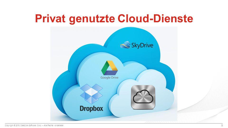 Copyright © 2015 DataCore Software Corp. – Alle Rechte vorbehalten. Privat genutzte Cloud-Dienste 9