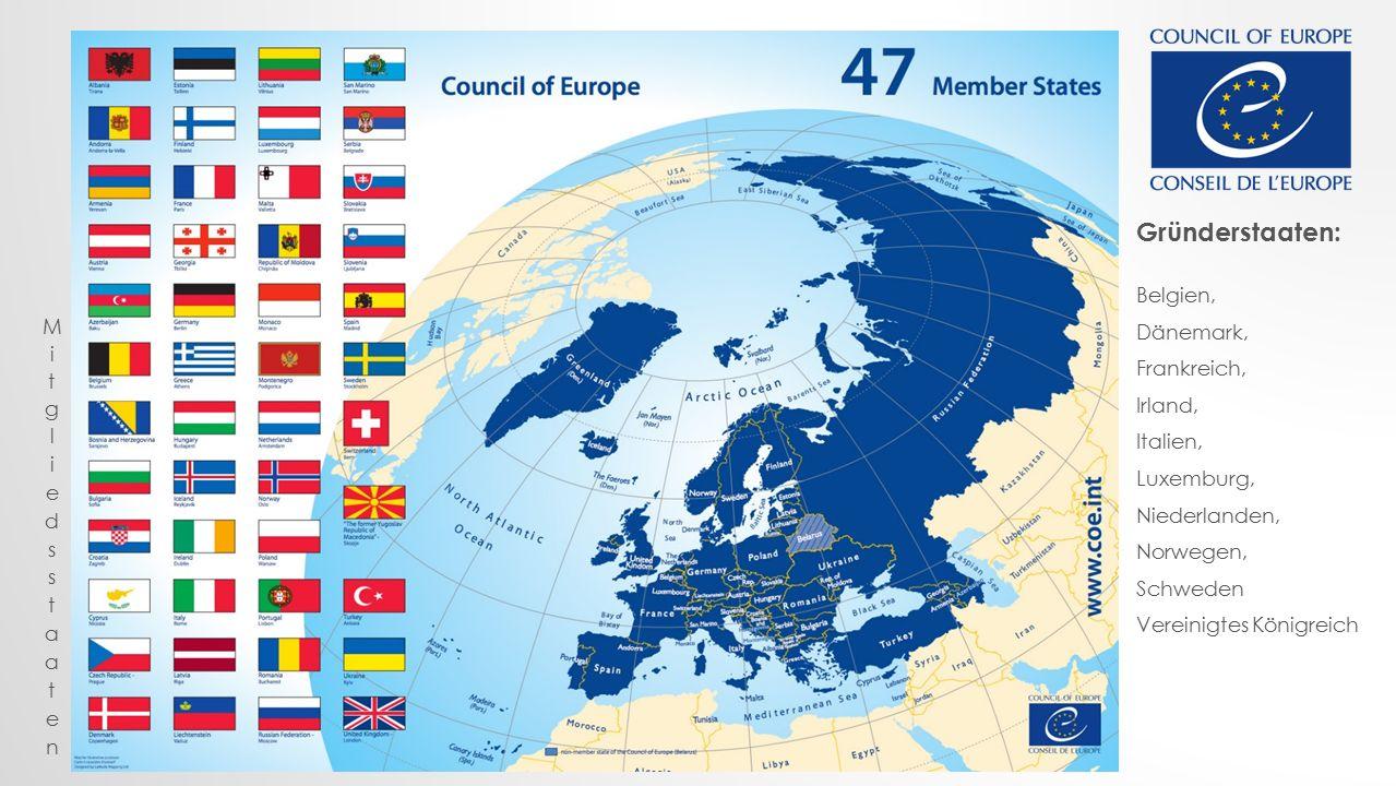Gründerstaaten: Belgien, Dänemark, Frankreich, Irland, Italien, Luxemburg, Niederlanden, Norwegen, Schweden Vereinigtes Königreich