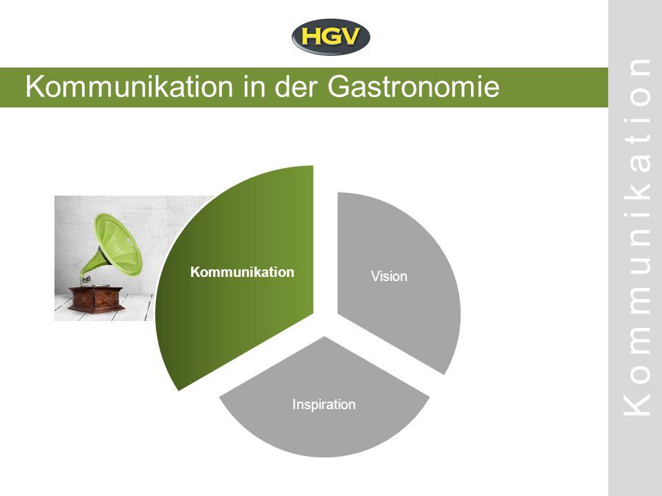 Kommunikation in der Gastronomie Kommunikation Vision Inspiration Kommunikation