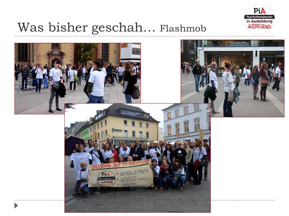 Was bisher geschah… Flashmob