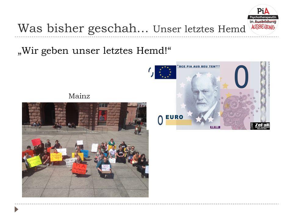 """Was bisher geschah… Unser letztes Hemd """"Wir geben unser letztes Hemd! Mainz"""