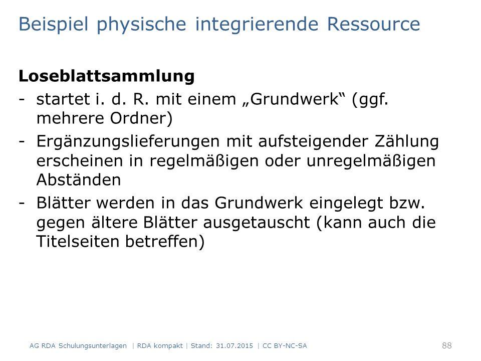 """Loseblattsammlung -startet i. d. R. mit einem """"Grundwerk (ggf."""