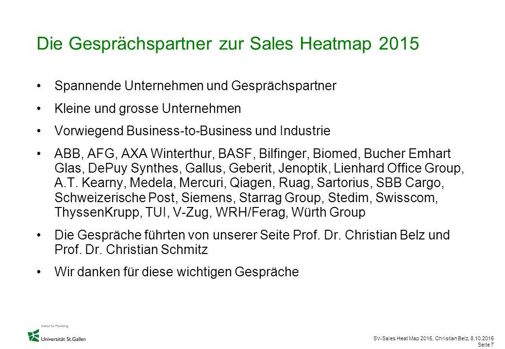 SV-Sales Heat Map 2015, Christian Belz, 8.10.2015 Seite 7 Die Gesprächspartner zur Sales Heatmap 2015 Spannende Unternehmen und Gesprächspartner Klein